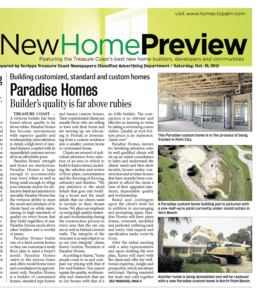 Paradise Homes – Quality Far Above Rubies