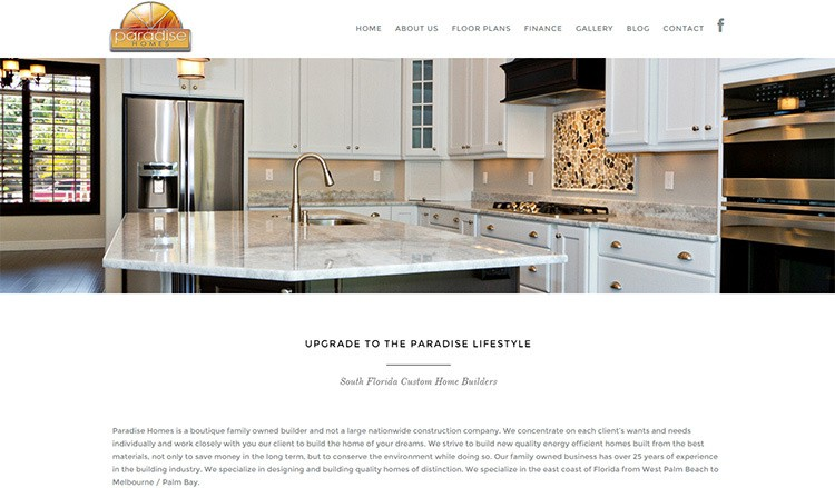 Paradise Homes Launches New Website